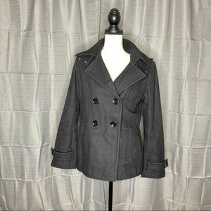 Calvin Klein wool Pea Coat with Hood size 6
